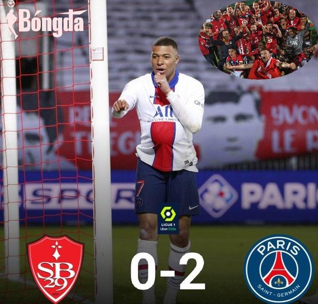 Brest 0-2 PSG: Chiến thắng vô  nghĩa