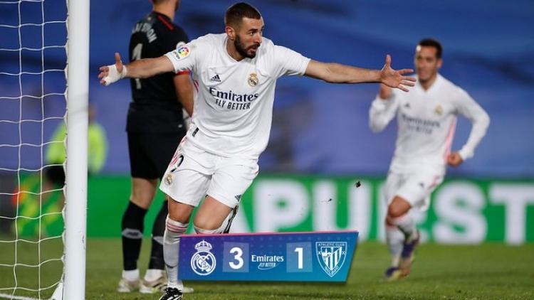 Eibar 1-3 Real Madrid: Bàn thắng và kiến tạo cho Benzema