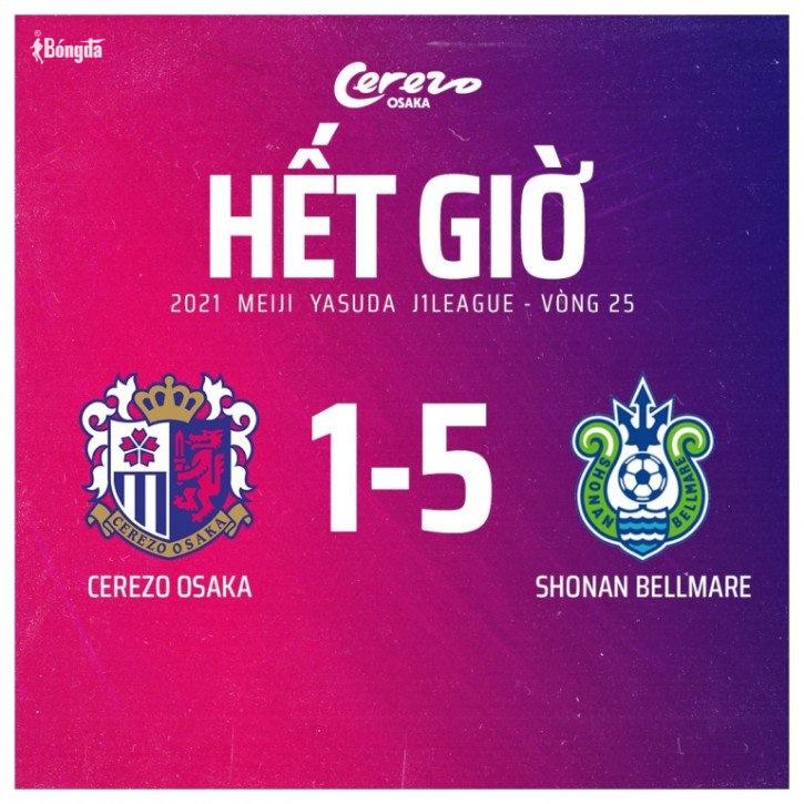 Đặng Văn Lâm bất lực, Cerezo Osaka thua đậm ngay trên sân nhà tại J.League