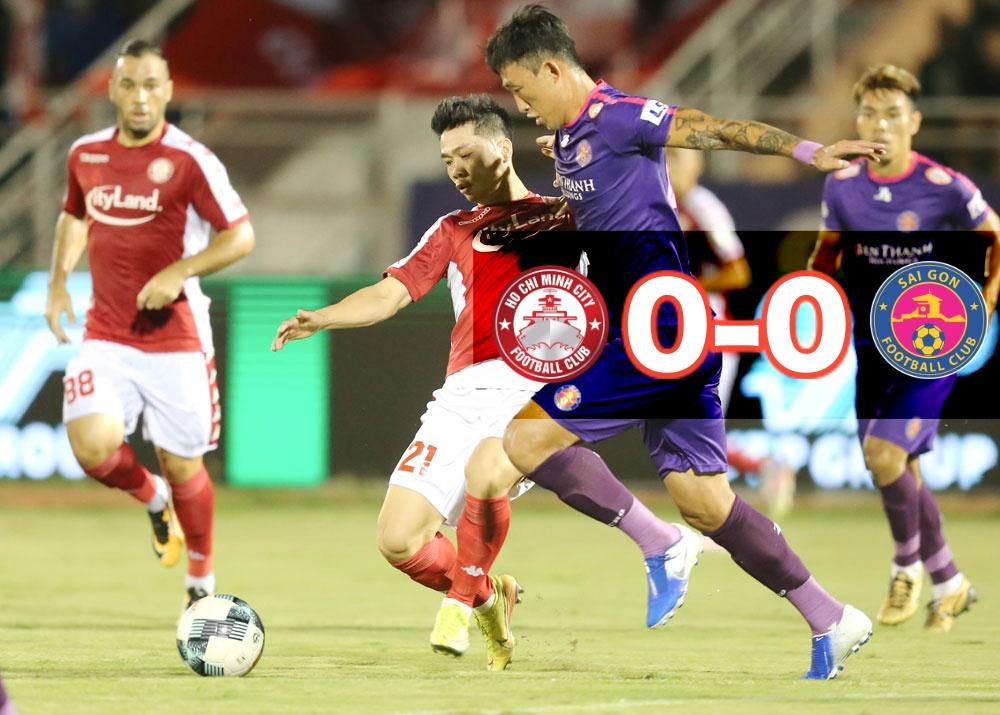 """Sài Gòn FC và CLB TP.HCM """"cầm chân nhau"""" tại Tứ Hùng 2021"""