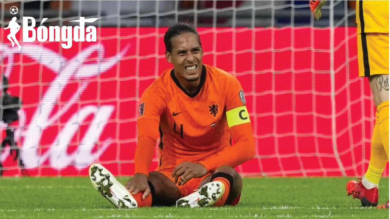 Liverpool thở phào với chấn thương của Van Dijk tại vòng loại World Cup 2022