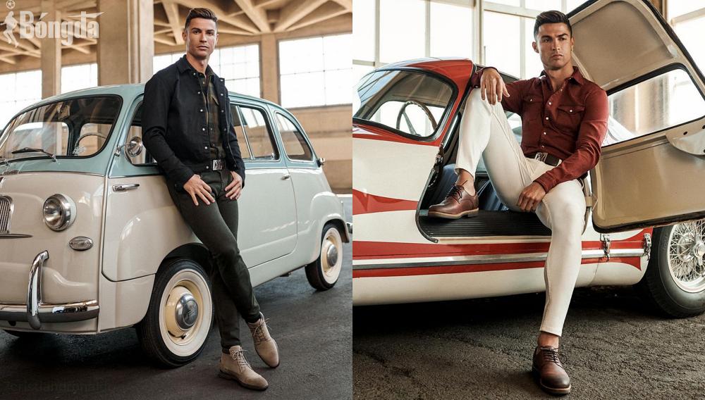 """Tạo dáng bên siêu xe, Ronaldo thể hiện gu thời trang đẹp """"ngất trời"""""""