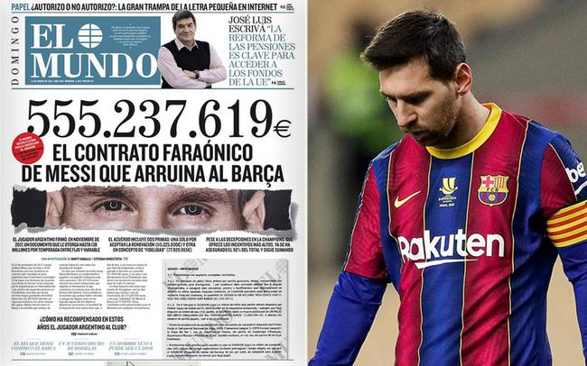 """Bản hợp đồng """"khủng"""" của Messi"""