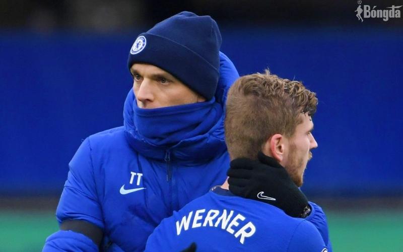 Thomas Tuchel trấn an Timo Werner sau chiến thắng giòn giã trước Tottenham