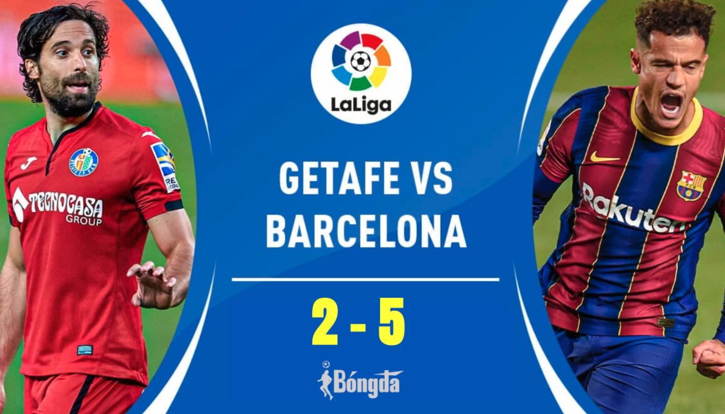 Barcelona 5-2 Getafe: Cú đúp của Messi trong chiến thắng của Barcelona