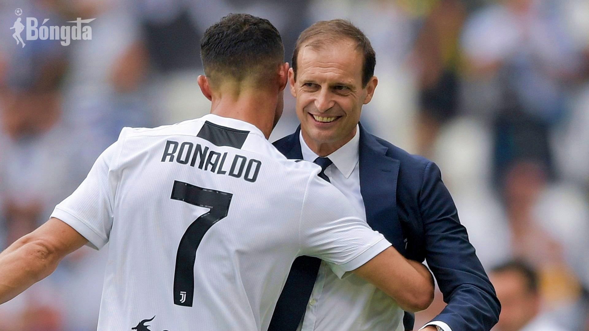 Vừa đến Juventus, HLV Allegri đưa lời 'cảnh báo' Ronaldo