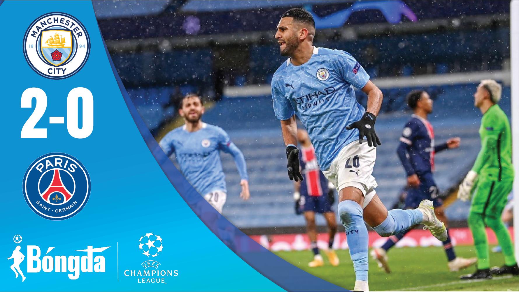 Man City 2-0 PSG: Man City lần đầu vào chung kết Champions League, PSG ngậm ngùi chia tay