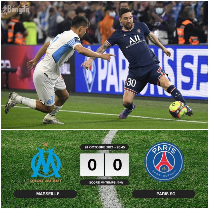 Messi lại tịt ngòi Ligue 1, PSG cầm hoà Marseille