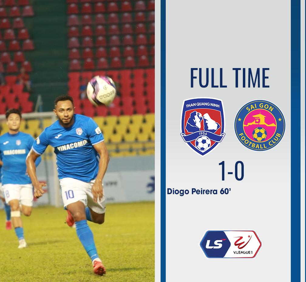 Than Quảng Ninh 1-0 Sài Gòn FC:  Đánh chiếm ngôi đầu bảng