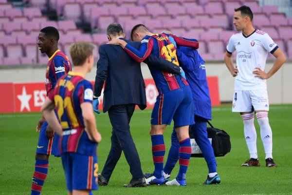"""Barca """"nhẹ người"""" vì chấn thương của Lenglet không nghiêm trọng"""