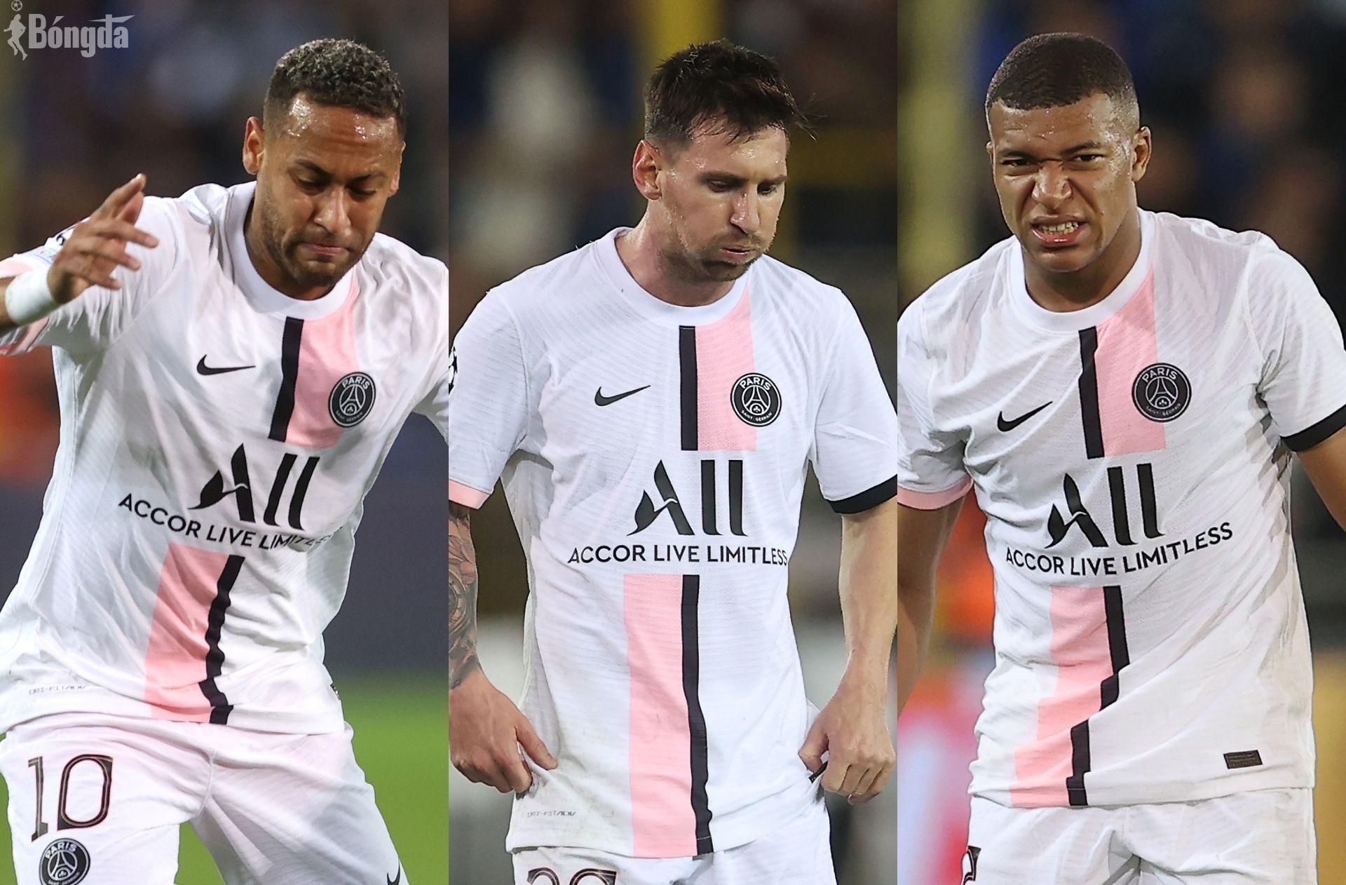 Tam tấu Messi-Neymar-Mbapee tịt ngòi, PSG thua sốc 0-2 trước Rennes