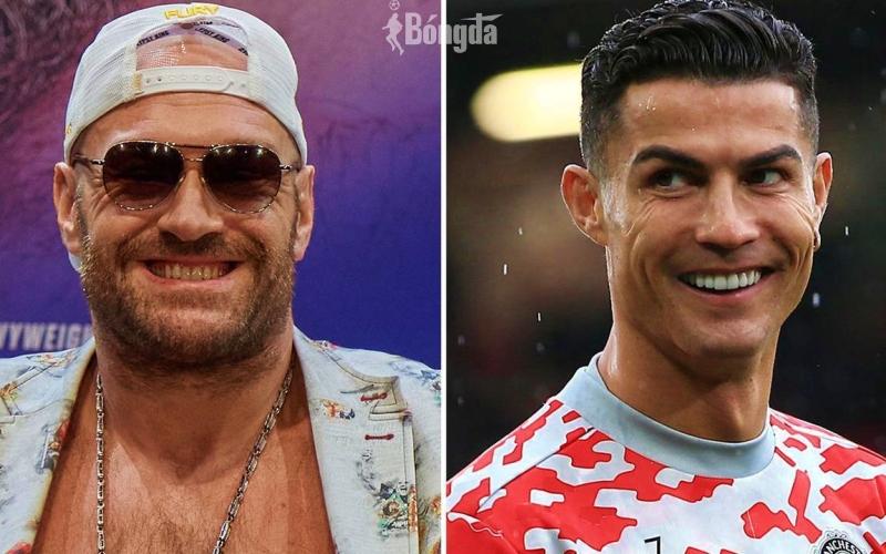 """Võ sĩ Tyson Fury cảnh báo Ronaldo: """"Manchester không đủ chỗ cho cả hai chúng tôi"""""""