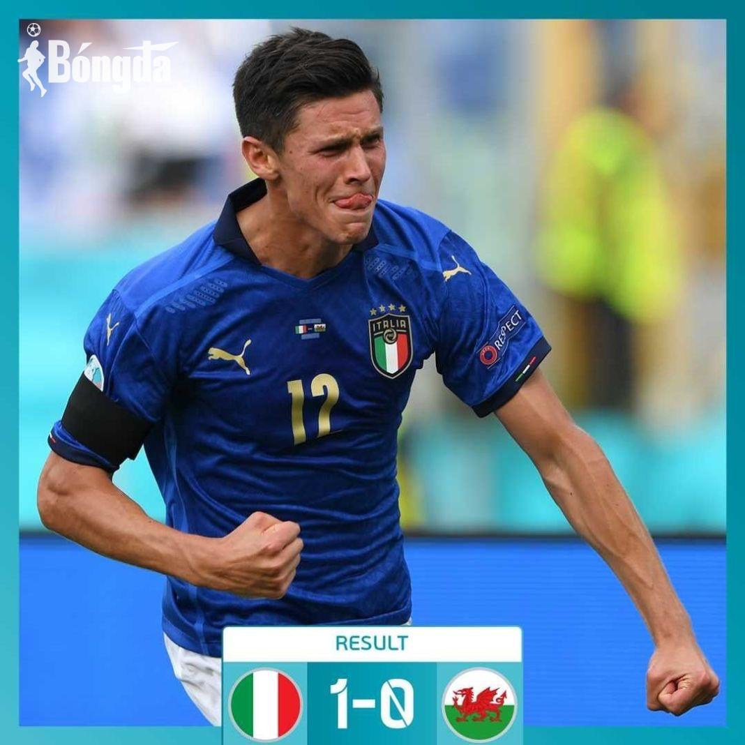 EURO 2020: Pessina giúp Ý đứng đầu bảng A, xứ Wales đứng thứ hai dù thua 1-0