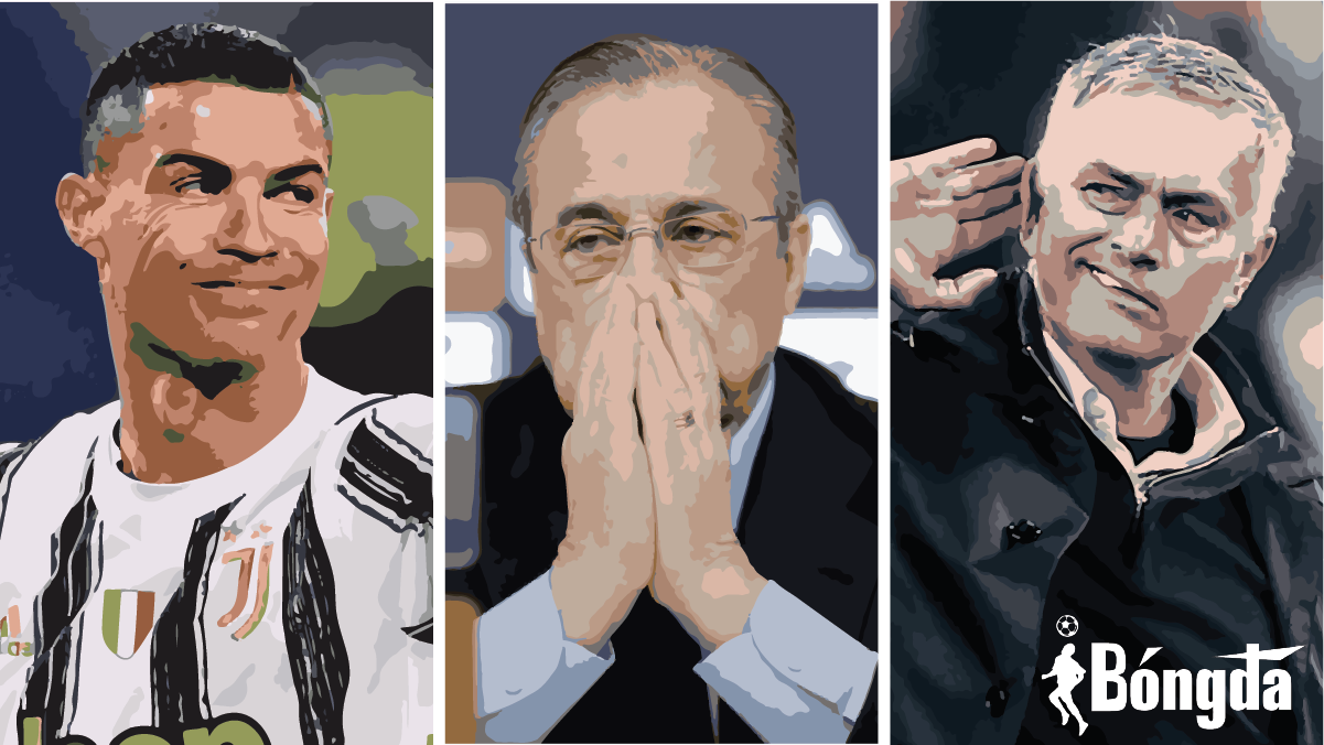 """Chủ tịch Florentino Perez: """"Ronaldo là thằng ngốc, Mourinho là kẻ bất bình thường!"""""""