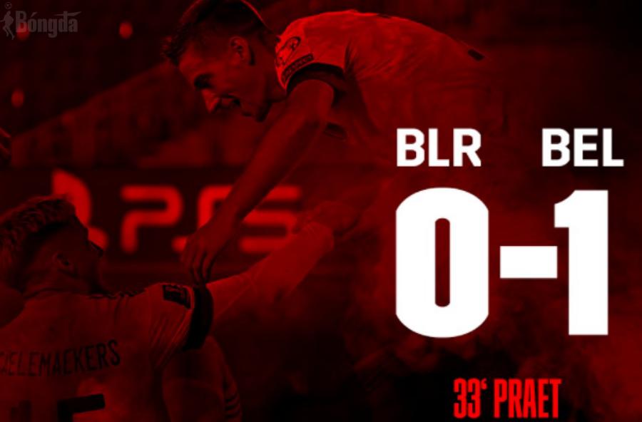 """Belarus 0-1 Bỉ: """"Quỷ Đỏ"""" làm chủ cuộc chơi, đặt một chân đến Qatar"""
