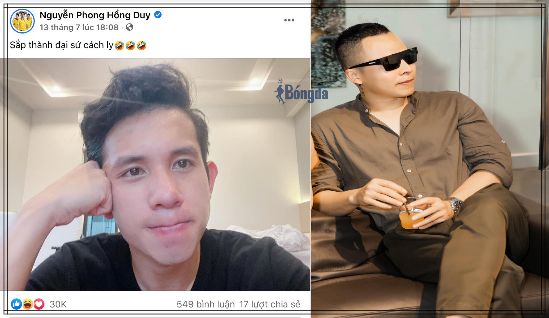 """""""Học theo"""" Vũ Khắc Tiệp, Hồng Duy trở thành đại sứ cách ly của V-League"""