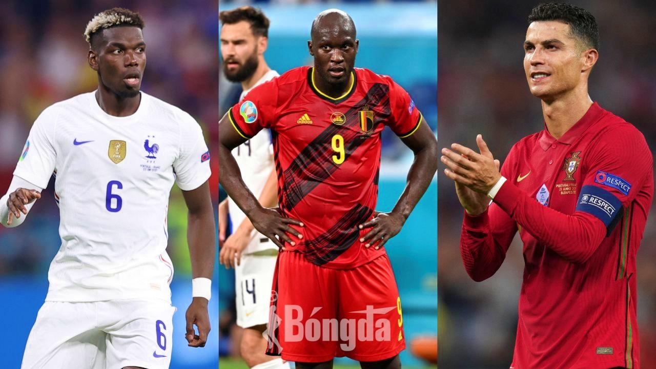 Ronaldo, Lukaku, Pogba là những cầu thủ được đánh giá cao nhất vòng bảng EURO 2020