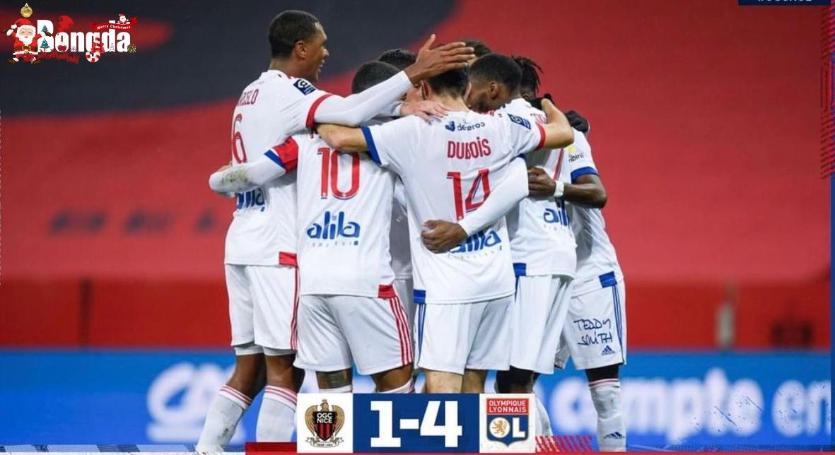 Lyon kiểm soát thế trận, đánh bại Nice với tỉ số 4-1
