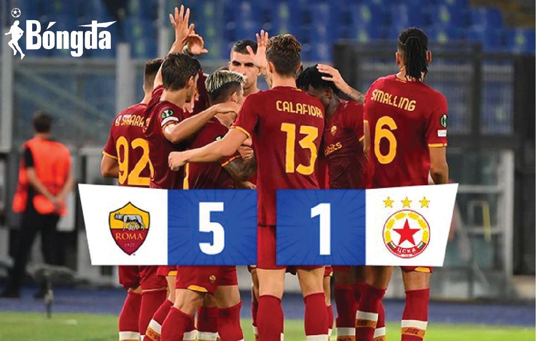 Thắng đậm 5-1, Mourinho nối dài mạch chiến thắng cùng AS Roma