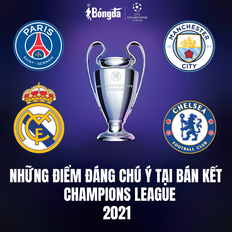 Những điểm đáng chú ý tại bán kết Champions League 2021