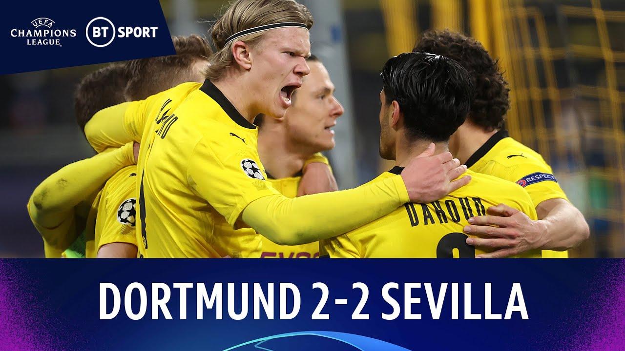 Haaland ghi hai bàn đưa Dortmund tiến vào tứ kết Champions League