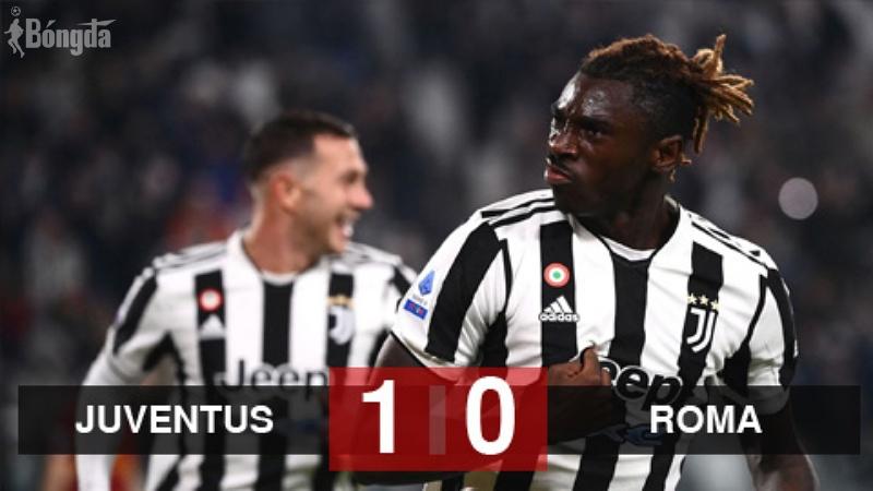 Juventus 1-0 Roma: Moise Kean toả sáng, Lão bà bà duy trì mạch thắng