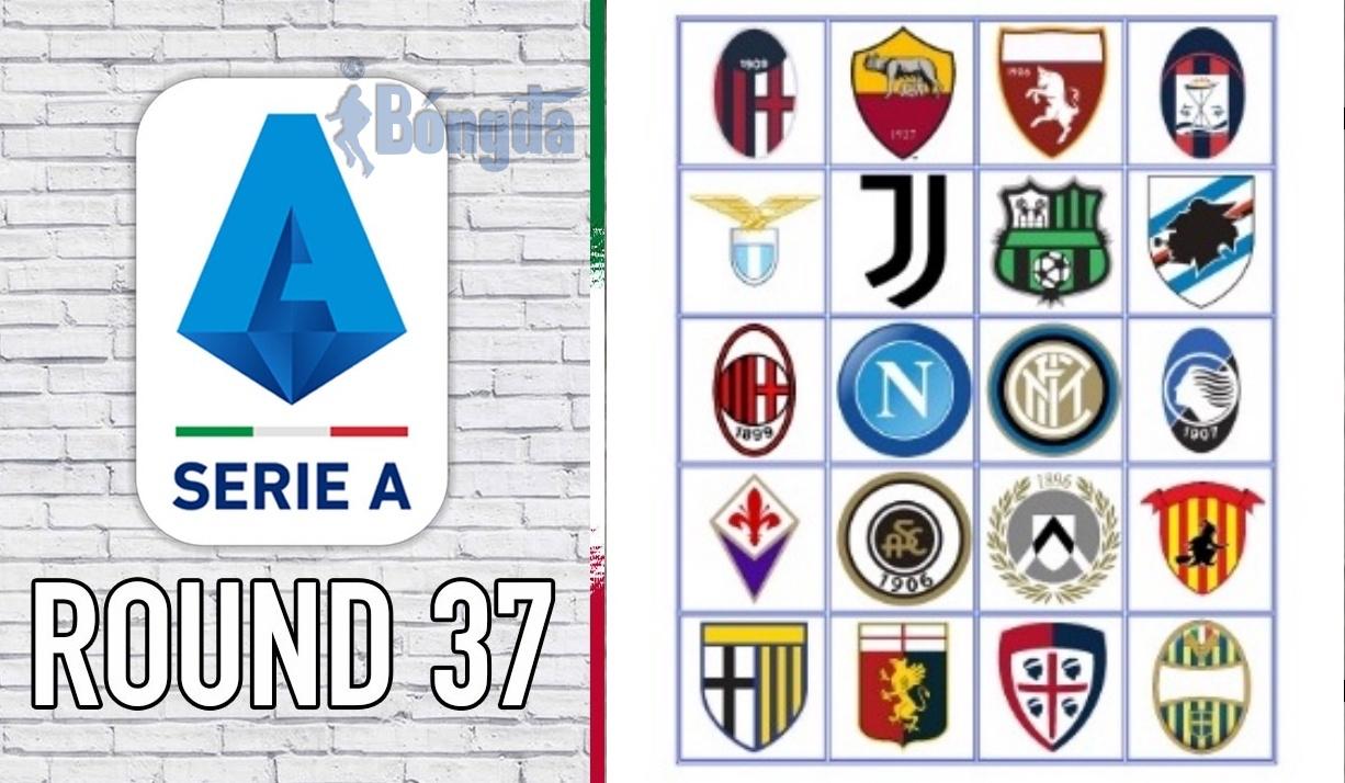 Lịch thi đấu Serie A 2020/2021 vòng 37