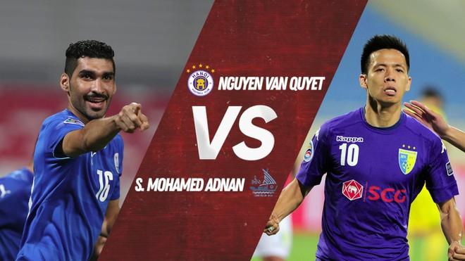 Tranh tài cho vòng loại trực tiếp là cuộc đối đầu của Văn Quyết và Sayed Mohamed Adnan