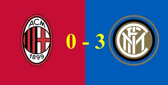 AC Milan bại trận hoàn toàn trước Inter, Lautaro Martinez giúp Inter giữ vững ngôi vị đầu bảng Serie A.