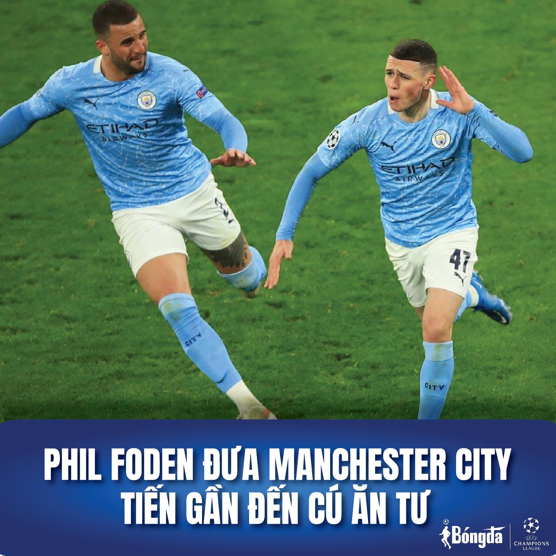 Phil Foden đưa Manchester City tiến gần đến cú ăn tư