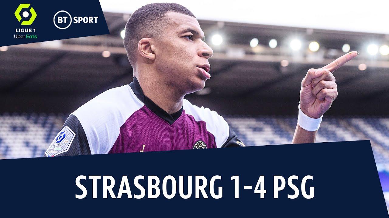 PSG đánh bại đội chủ nhà Strasbourg với tỷ số 4-1