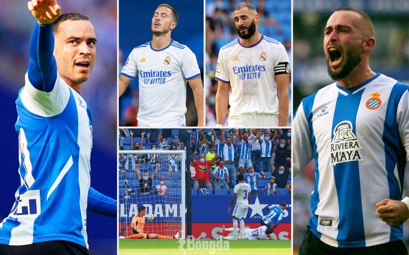 """Thua sốc Espanyol 1-2, Real Madrid """"khủng hoảng"""" không khác gì Barca"""
