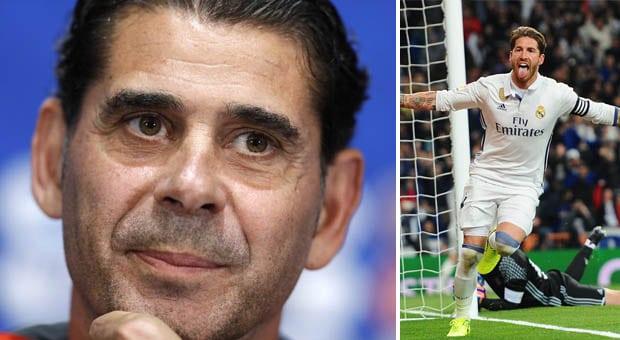 HLV Fernando Hierro hối thúc Real Madrid giữ chân Sergio Ramos