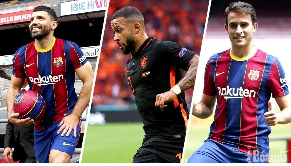 Aguero tranh giành số 10 của Messi, Memphis Depay và Eric Garcia sẽ mang áo số bao nhiêu?