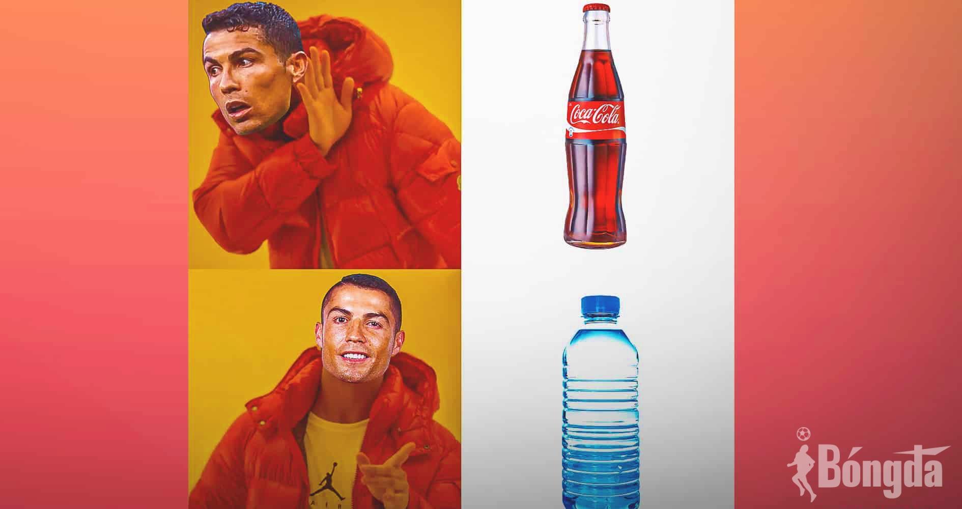 """SỐC: Lối sống lành mạnh của Ronaldo khiến Coca-Cola """"bốc hơi"""" 4 tỷ USD chỉ trong vài giờ đồng hồ"""