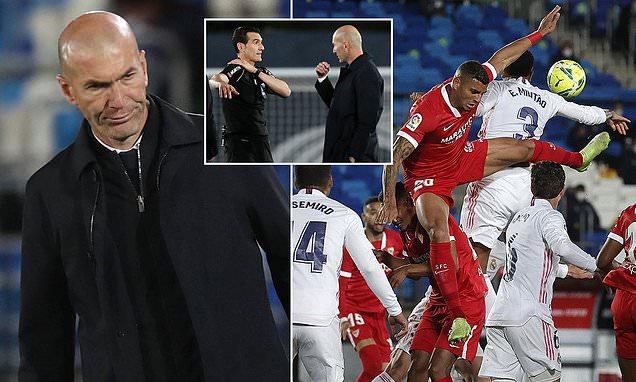 Real Madrid chia điểm, HLV Zidane tức giận với quả phạt đền của Sevilla