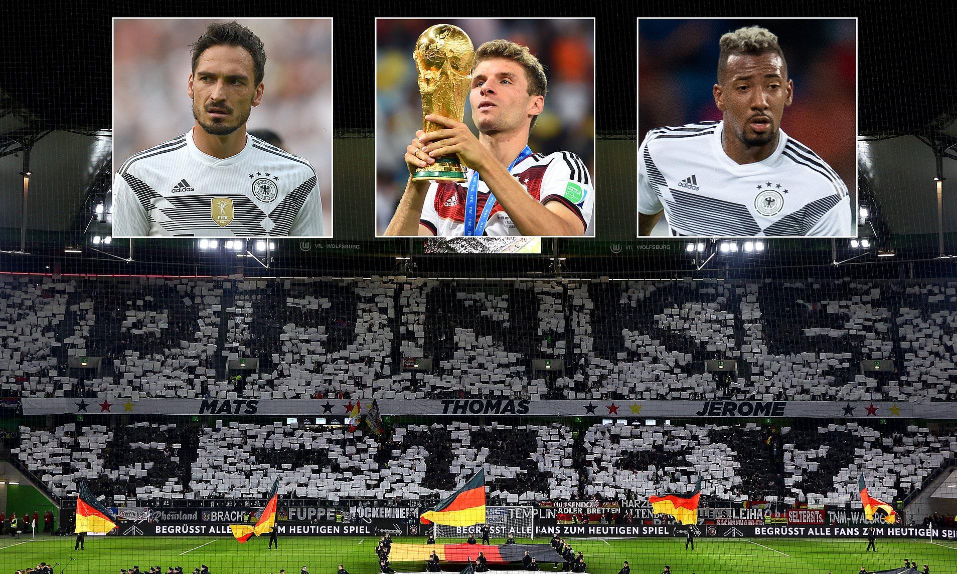 Joachim Löw được trao quyền để mang Thomas Müller, Jerome Boateng và Mats Hummels trở lại ĐT Đức