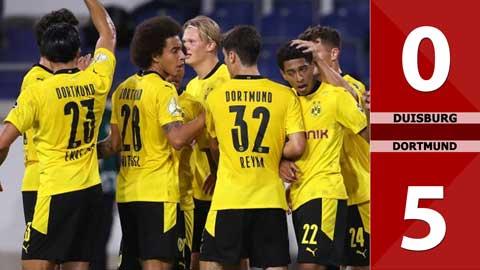 Duisburg thắng đậm Dortmund 5-0