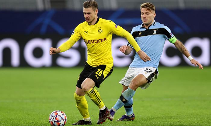 """Dortmund có trận hoà với Lazio để tiến vào vòng 16 đội mạnh nhất dù thiếu vắng """"sát thủ ghi bàn"""" Erling Haaland"""