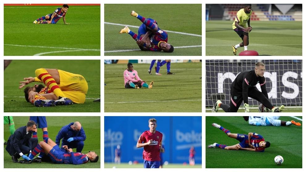 Barcelona choáng ngợp khi có tới 14 cầu thủ phải ngồi ngoài vì chấn thương