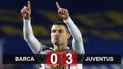 Ronaldo giúp Juventus vượt mặt Barca giành vị trí đầu bảng