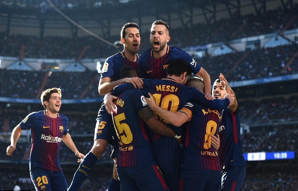 Barca là đội bóng có nhiều cầu thủ ghi bàn nhất La Liga mùa này