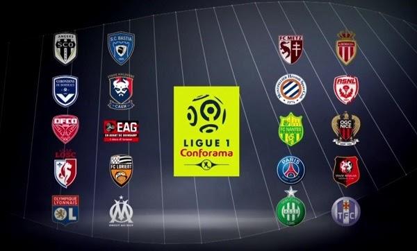 Bảng xếp hạng Ligue 1 2020/21 - vòng 17