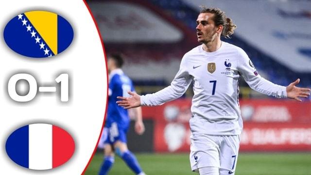 Pháp củng cố ngôi đầu bảng với chiến thắng 1-0 trước Bosnia
