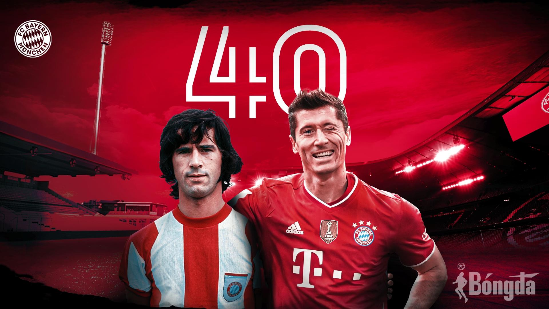 """Chấn động Bundesliga 2020/21: Lewandowski không ngừng theo đuổi kỷ lục """"danh giá"""" của Gerd Mueller"""