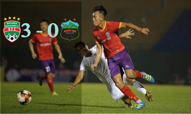 HAGL thua đậm trước B.Bình Dương tại mở màn Cúp Thiên Long