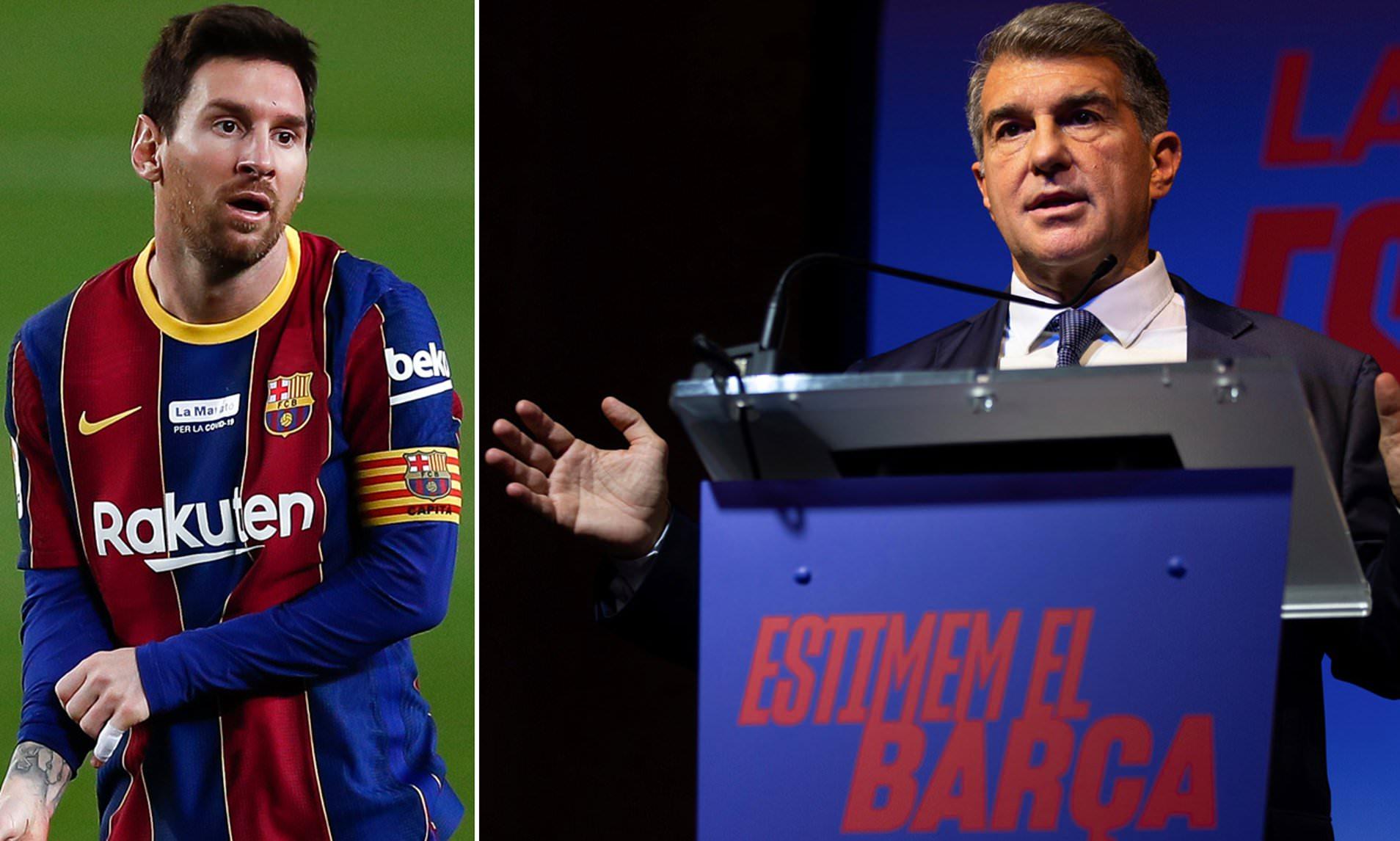 """Tân chủ tịch Laporta nhìn thấy """"dấu hiệu"""" Messi sẽ ở lại Barca"""
