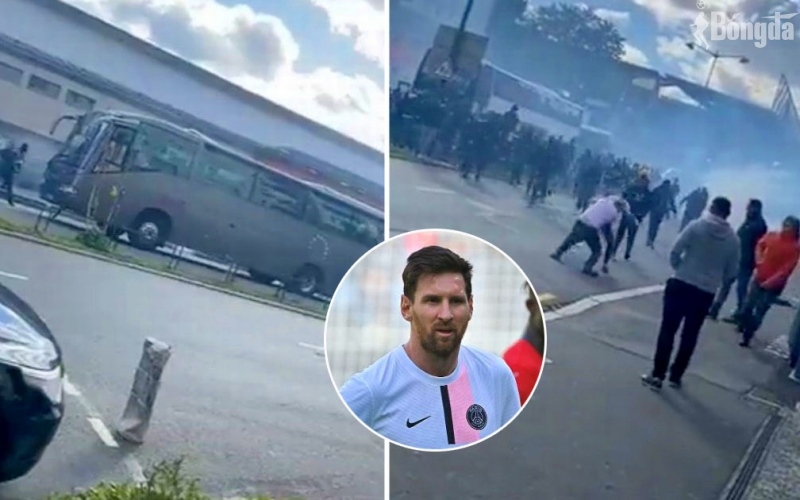 """Messi và PSG mắc kẹt tại Roazhon Park sau trận thua """"thất vọng"""" trước Rennes"""