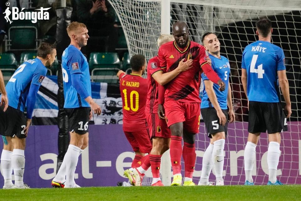 Lukaku lập cú đúp giúp Bỉ đánh bại Estonia 5-2