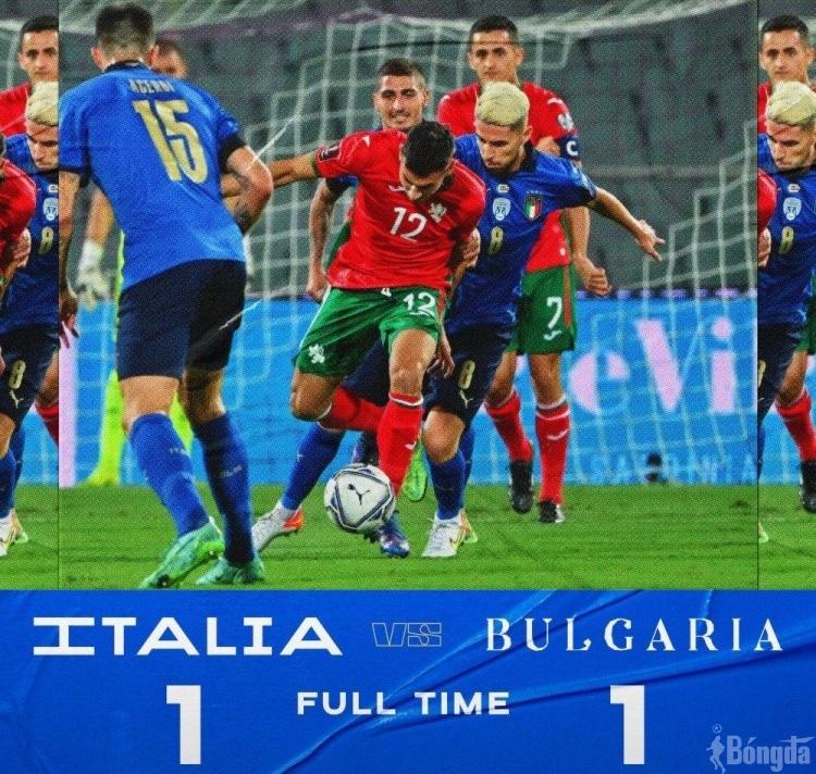 Italy bị Bulgaria cầm chân 1-1 hậu vô địch Euro